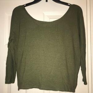 Olive green 3/4 sleeve shirt
